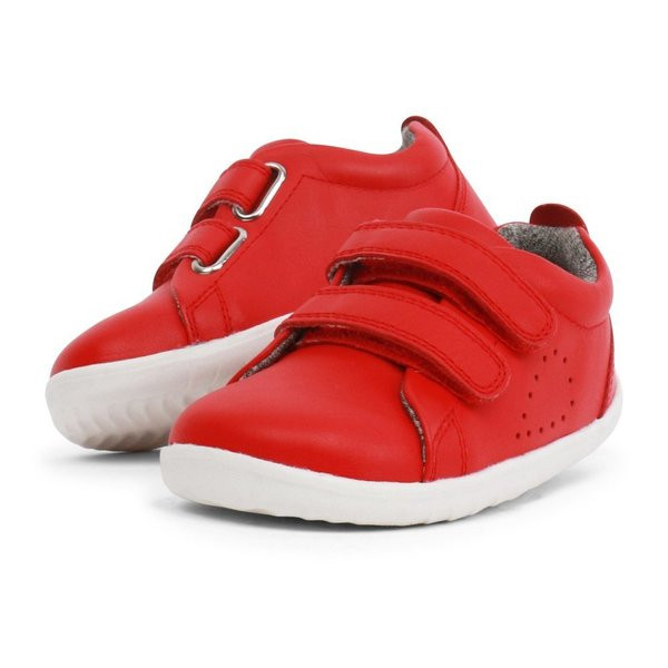 competitive price e5827 077cd Scarpe Bobux Step-up Grass Court Red Trainer