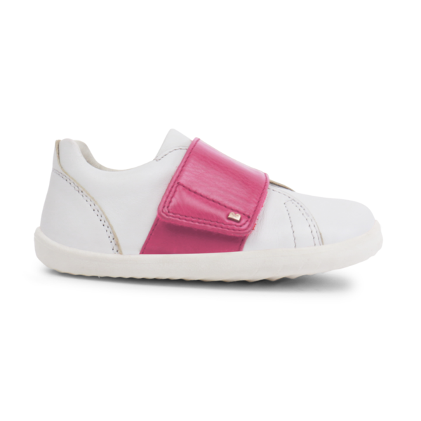 new arrival edc13 1061c Scarpe Bobux Step-up Boston White + Pink Trainer